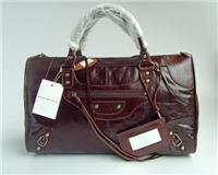 balenciaga handbags giant work 084324 in deep coffee