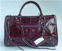 balenciaga handbags giant work 084324 in deep purple