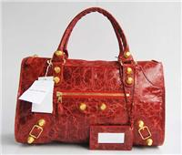 balenciaga handbags giant work 084324 in pomegranate