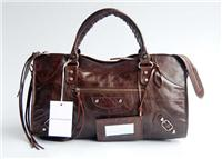 balenciaga handbags part time 084328 in deep coffee