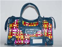 balenciaga handbags woven 084332 in blue royal