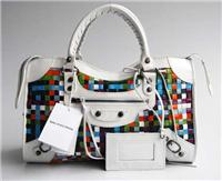 balenciaga handbags woven 084332 in white